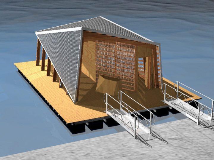 Pavillon d'accueil flottant > Origami, 2020